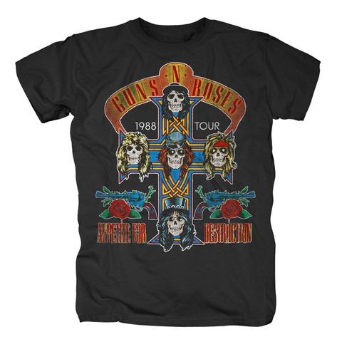 √Appetite Tour 1988 von Guns N' Roses - T-shirt jetzt im Bravado Shop