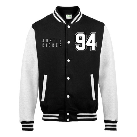 √94 von Justin Bieber - Collegejacke jetzt im Bravado Shop
