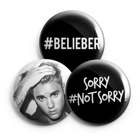 Sorry Not Sorry von Justin Bieber - 3er Button Set jetzt im Bravado Shop